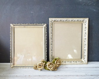 Filigree Metal Picture Frames