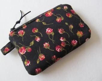 Mini Zipper Pouch/Coin Purse/Card Case/Rose