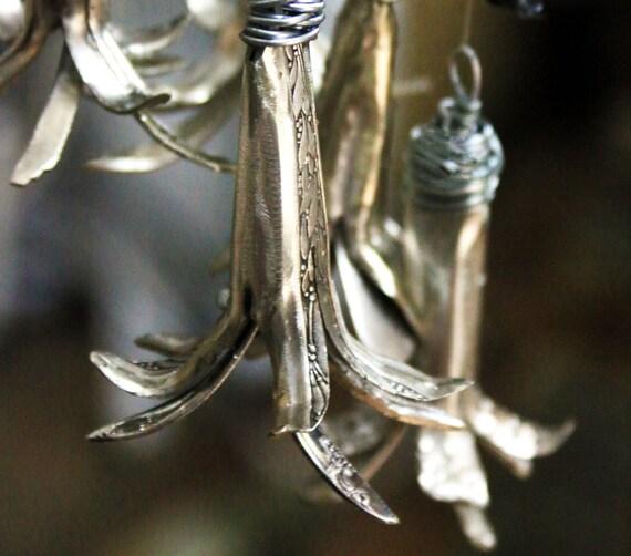 Silver Wedding Bells Floral Arrangement Blue Bell By NevaStarr
