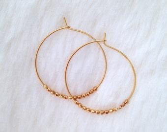 Midas' Gold Hoop Earrings