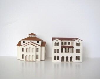 Vintage miniature house/ architectural model/ wood house