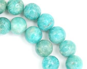 Russian Amazonite Beads - 8mm Round - Half Strand