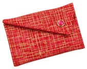 Business Card Holder - Red Gold Hatch (LIMITED EDITON) Card Case Wallet
