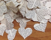 Confetti From Gone With the Wind Vintage Heart Punches Over 850 Punches - Rippy Bits by TangoBrat Ready to Ship