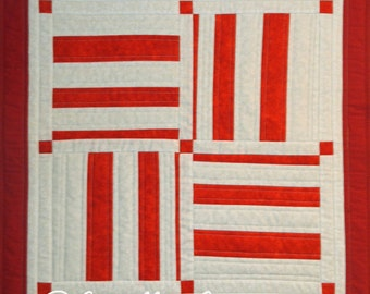 Pieced Quilted Table Mat, 4880-0, Pieced wall hanging, stripped wall quilt