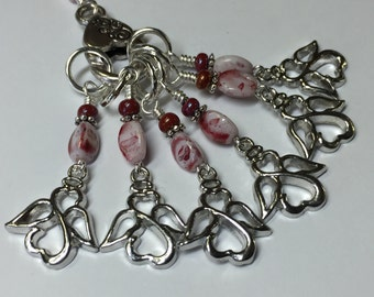 Angel Stitch Marker Holder & Snag Free Angel Stitch markers- Knitting Gift- Tools for Knitters