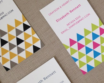 Modern Geometric Mommy, Business, or Calling Cards - Set of 20