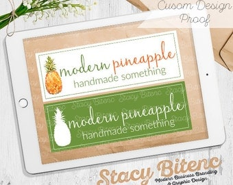 Pineapple Logo Design - Etsy Shop Banner - Premade logo - business branding - Etsy Banner - Graphic Design - Branding Set