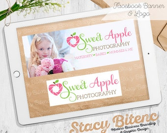 Apple Photography Logo - Heart photography logo - photography logo - photography business - business branding - photography props