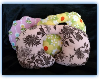 Travel Pillow - Car Seat Neck Support - Infant to Adult Sizes - Flowers