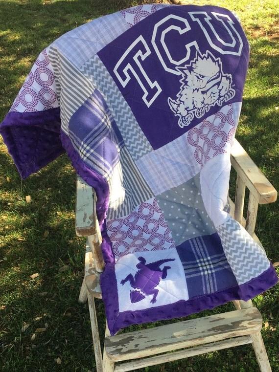 Tcu Baby Blanket T Shirt Quilt Custom Scrap T Shirt