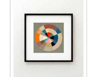 PARTITION no.72 - Mid Century Modern Style Geometric Art Print