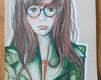 "9"" x 12"" Daria Morgendorffer Portrait"