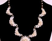 Vintage Featherweight White Necklace