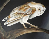 CUSTOM Barn Owl painting - 24x30 canvas - made to order