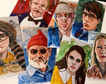 Wes Anderson Collection (set of 7 prints)