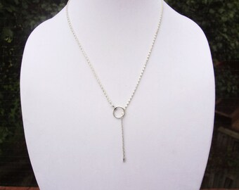 """Lariat Necklace Blank 28"""" with lattice chain and free charm"""
