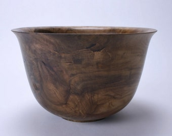 Rainbow Poplar Burl Wooden Bowl #1498