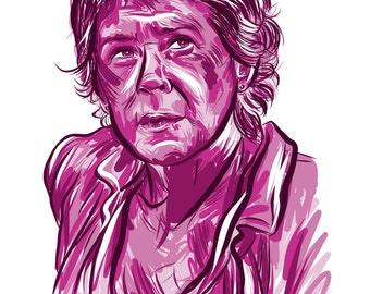 "Carol Peletier from ""The Walking Dead"" - Illustration - Digital Art - 11"" x 17"""