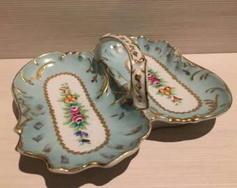 Vintage hand painted ceramic tray