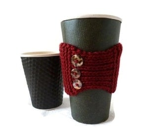 Cup Cozy, Knit Coffee Cozy, Coffee Cover, Coffee Sleeve