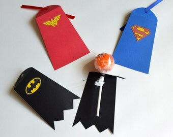 Set of 12 Superhero Lollipop/Cakepop Capes