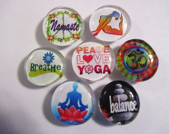 ZEN YOGA Glass Bubble Magnets for Perfect Insight and Tranquility