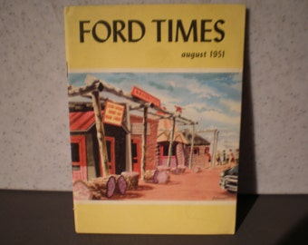 Vintage Mid Century Ford Motor Company Travel Magazine - Ford Times