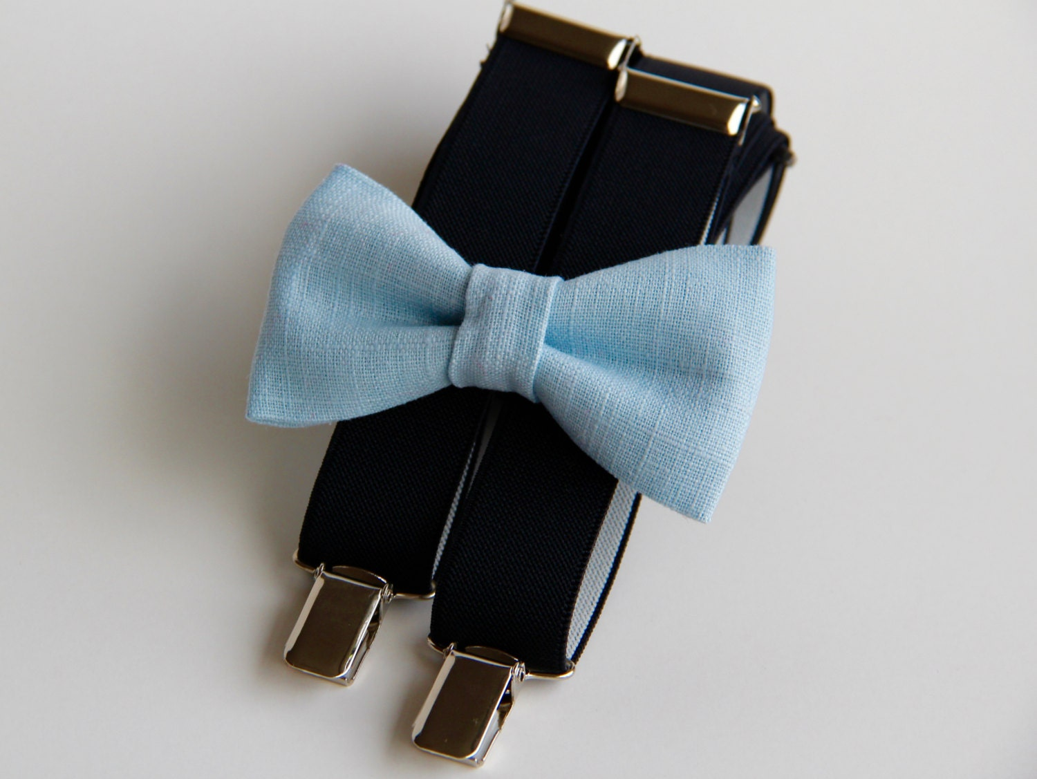 The suspender set from Rising Star is perfect for accessorizing your dapper little one. The suspenders are completely adjustable and the included bow tie has a hook and loop closure for easy changing.