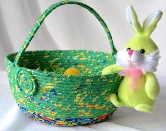 Green Easter Bucket, Fun Easter Basket, Handmade Easter Egg Hunt Bucket, Green Easter Decoration, Keepsake Boy Basket
