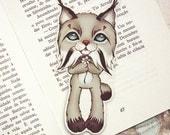 Lynx pocket size bookmark