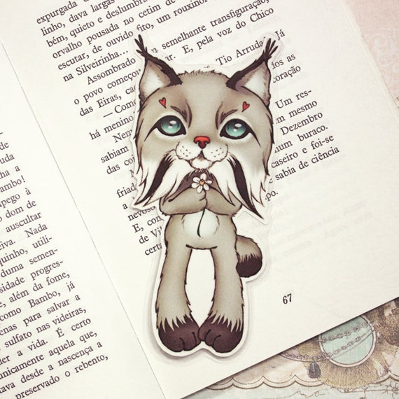 Lynx pocket size bookmark - made to order