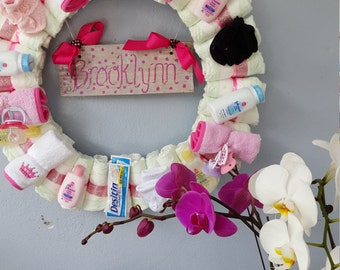 Baby Diaper wreath Made to Order