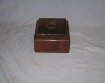 Fancy Walnut 4x4 Box Stach Box Handmaid Keepsake Box Small wood box Jewelry Box Watch Box