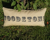 "Monogram Pillow - 19""L X 39""W X 5""D"