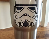 Star Wars Clone Storm Trooper or Darth Vader  decal or sticker for your tumbler, cup, Corkcicle or Yeti rambler