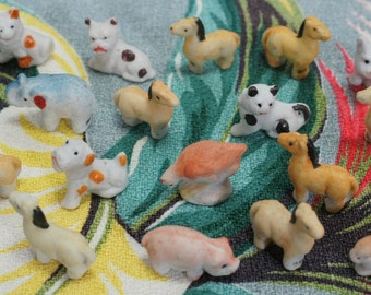 Vintage Lot of 20 Tiny Little Made in Japan Animals