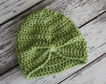 Baby Turban - Baby Hat - Boho Baby Hat - Crochet Baby Turban - Crochet Baby Hat - Baby Turban Photo Prop - by JoJo's Bootique