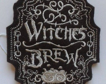 Witches Brew, unique label for wine bottle, Halloween or Hen party, UK