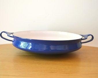 Vintage Jens Quistgaard Kobenstyle Blue Paella Pan by DANSK DESIGNS