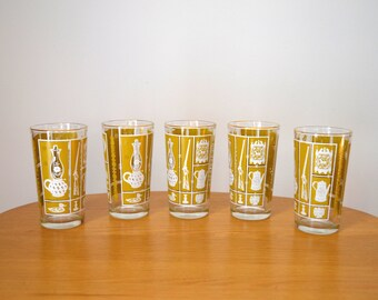 Retro Colonial Americana Drinking Glasses