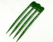 Reserved for Carolin Four Prong Hair Fork made from Tahitian Jadewood DymondWood-  Very durable. Water resistant.
