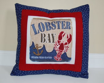 Anchors Away Pillow, Nautical, Beach Cottage Decor