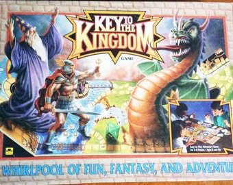 Vintage Key to the Kingdom Board Game Complete 1992