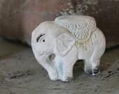Vintage Carnival Prize Chalk Ware Elephant