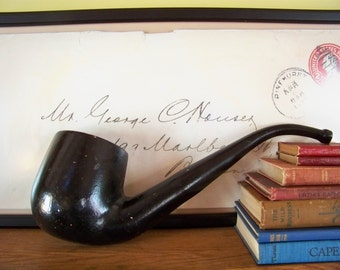 Vintage Metal Tobacco Pipe - Trade Sign - Smoke Shop