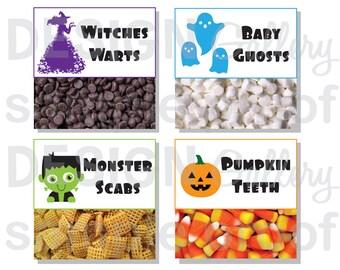 Halloween Treat Bag Tags - printable DIY instant download digital file
