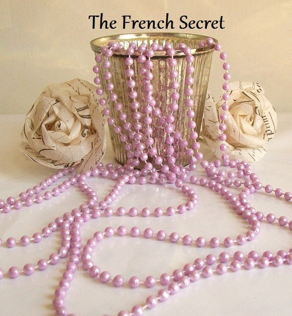 Pearl Garland For Christmas Tree: Lavender Pearl Garland Decoration Feather Tree Christmas