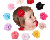 Hair Bows- YOU PICK 4-Baby Hair Clips  - Baby Hair Bows - Flower Hair Clips - Baby Hair Clips- Hair Clips - Hair Bow set- Clippie