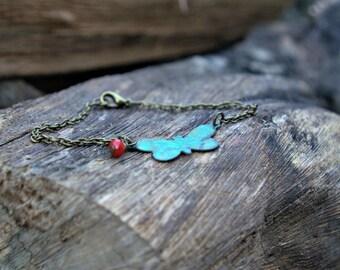 Patina Butterfly Bracelet